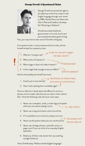 schrijftips van George Orwell